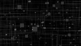 Fondo abstracto colorido Código digital de los datos grandes stock de ilustración