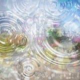 Fondo abstracto colorido con descensos del agua Colores tranquilos Fotos de archivo