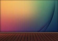 Fondo abstracto colorido con el piso de madera de la textura del modelo Fotografía de archivo libre de regalías