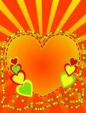 Fondo abstracto colorido con los corazones stock de ilustración