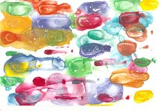Fondo abstracto colorido de la acuarela Imagen de archivo libre de regalías