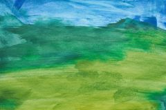Fondo abstracto colorido de la acuarela Mano drenada wallpaper fotografía de archivo libre de regalías