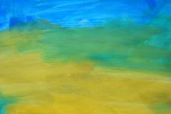 Fondo abstracto colorido de la acuarela Mano drenada wallpaper imagen de archivo