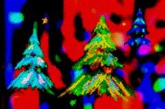 Fondo abstracto colorido del árbol de navidad libre illustration