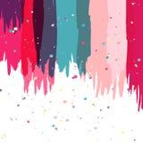 Fondo abstracto colorido del cepillo de la acuarela, plantilla del vector libre illustration