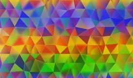 Fondo abstracto colorido del triángulo Fotografía de archivo