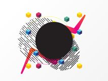 Fondo abstracto colorido, elemento geométrico imágenes de archivo libres de regalías