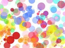 Fondo abstracto colorido en un fondo blanco ilustración del vector