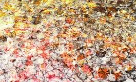 Fondo abstracto colorido hecho con técnica del collage de la foto fotos de archivo