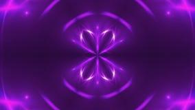 Fondo abstracto con caleidoscópico violeta del fractal de VJ 3d que rinde el contexto digital almacen de video