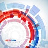 Fondo abstracto con colores rojos y azules Foto de archivo libre de regalías