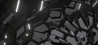 Fondo abstracto con Crystal Structure de cristal Fotos de archivo libres de regalías