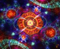 Fondo abstracto con dimensiones de una variable de los fractales Fotos de archivo libres de regalías