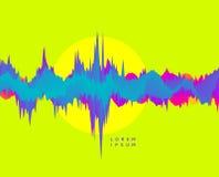 Fondo abstracto con efecto dinámico Estilo futurista de la tecnología Visualización grande del gráfico de los datos Ejemplo del v stock de ilustración