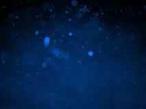 Fondo abstracto con el bokeh de la burbuja en color azul Fotos de archivo