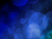Fondo abstracto con el bokeh de la burbuja en color azul Fotografía de archivo
