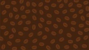 Fondo abstracto con el café Bean Pattern foto de archivo libre de regalías