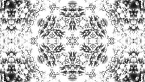Fondo abstracto con el caleidoscopio de plata Foto de archivo libre de regalías
