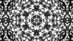 Fondo abstracto con el caleidoscopio de plata Fotografía de archivo