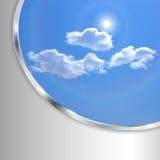 Fondo abstracto con el cielo Imagen de archivo libre de regalías