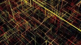 Fondo abstracto con el circuito Ejemplo de Digitaces ilustración del vector