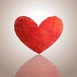 Fondo abstracto con el corazón Fotografía de archivo