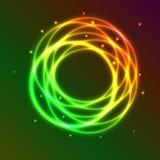 Fondo abstracto con el círculo colorido del plasma ef libre illustration