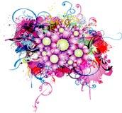 Fondo abstracto con el elemento floral Fotografía de archivo