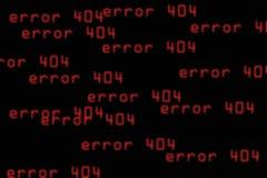 Fondo abstracto con el error 404 Foto de archivo libre de regalías