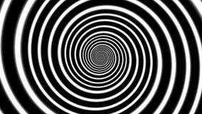 Fondo abstracto con el espiral blanco y negro sin fin, espiral del hypno, espiral hipnótico blanco y negro stock de ilustración