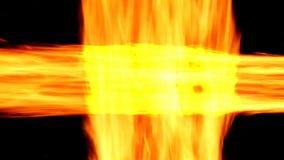 Fondo abstracto con el fuego ardiente Líneas de fuego almacen de metraje de vídeo
