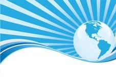 Fondo abstracto con el globo Imágenes de archivo libres de regalías