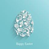 Fondo abstracto con el huevo de Pascua floral