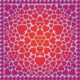 Fondo abstracto con el modelo de corazones libre illustration