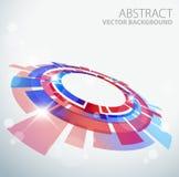Fondo abstracto con el objeto rojo y azul de 3D stock de ilustración