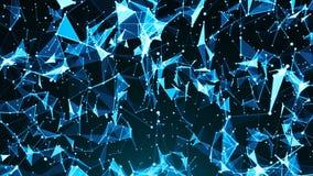 Fondo abstracto con el plexo Contexto de la tecnología Triángulos, líneas y puntos stock de ilustración