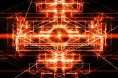 Fondo abstracto con el rayo del laser libre illustration