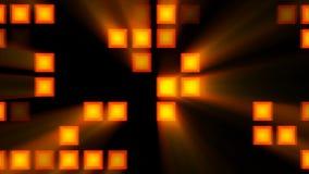 Fondo abstracto con el sitio anaranjado del disco representación 3d ilustración del vector