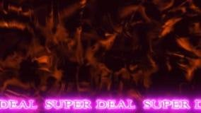 Fondo abstracto 03 con el SUPER OFERTA animado del texto conveniente para vender almacen de video