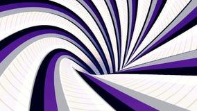 Fondo abstracto con el t?nel hipn?tico animado de rayas coloridas, lazo incons?til animaci?n Embudo giratorio sin fin ilustración del vector