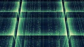 Fondo abstracto con el texto de la matriz almacen de video
