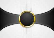 Fondo abstracto con forma de oro del círculo stock de ilustración