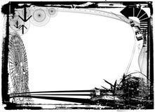 Fondo abstracto con la ciudad Imagen de archivo libre de regalías