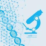Fondo abstracto con la estructura de la molécula de la DNA Fotografía de archivo libre de regalías
