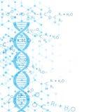 Fondo abstracto con la estructura de la molécula de la DNA Foto de archivo