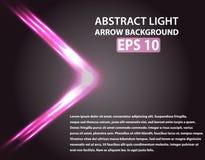 Fondo abstracto con la flecha ligera Elementos rosados Fotos de archivo
