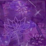 Fondo abstracto con la flor de loto en púrpura Foto de archivo libre de regalías