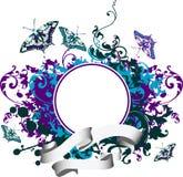 Fondo abstracto con la mariposa. Ilustración del Vector