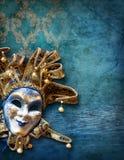 Fondo abstracto con la máscara veneciana Foto de archivo libre de regalías