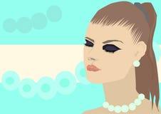Fondo abstracto con la muchacha, turquesa libre illustration